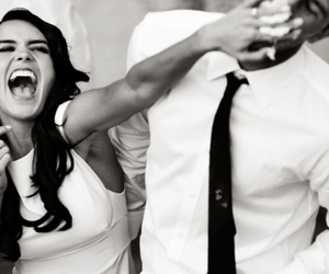 black and white couple laughing hard whip cream